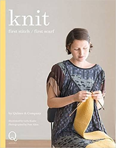 Book Knit: first stitch / first scarf