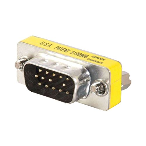 C2G/Cables to Go 20686 HD15 VGA M/M Mini Gender Changer (Coupler) ()