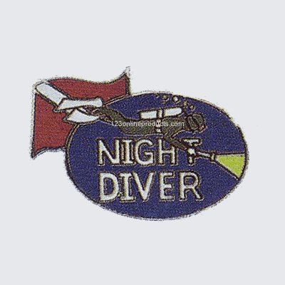Trident Night Diver Collectable Scuba Diving Pin Diver Collectible Scuba Diving Pin