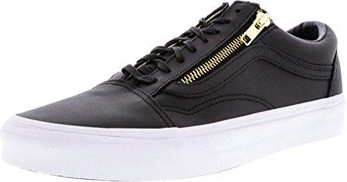 b750eec098f0 Vans Old Skool Zip Leather Black Gold Ankle-High Skateboarding Shoe - 10M  8.5M - Buy Online in Oman.