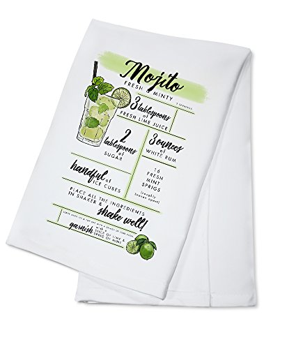 (Mojito - Cocktail Recipe (100% Cotton Kitchen Towel))