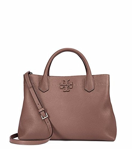 Tory Burch McGraw Triple Compartment Satchel - Silver - Tory Burch Silver Bag