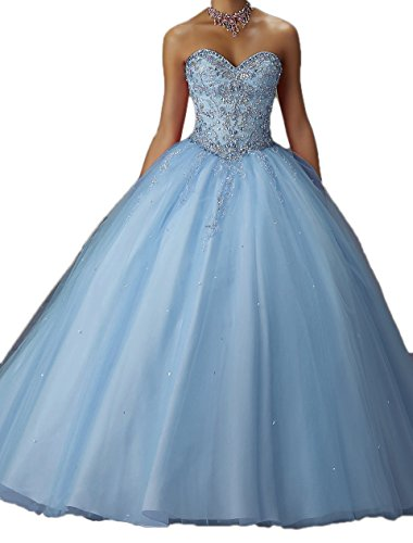 Prom Dresses Sequins Beilite Crystal Women's Style3 blue Long Gown Sweetheart Quinceanera with qwEAS