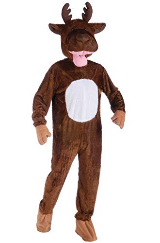 Forum Novelties Men's Moose Mascot Costume, Brown, One Size