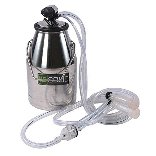 U.S. Solid 304 Stainless Steel Goat Sheep Milker Bucket Tank Barrel Portable Milking Machine FDA by U.S.Solid
