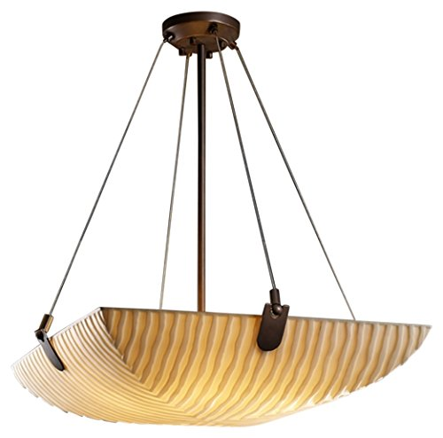 Justice Design Group Lighting PNA-9621-25-WFAL-DBRZ-LED3-3000 Porcelina-U-Clips 21