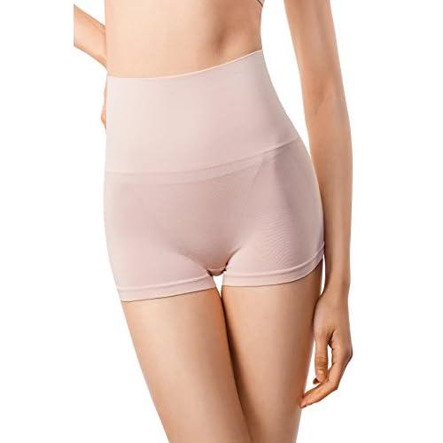 baa4505f803e4 chic MD Women s Soft Shapewear Compression High Waist Boyshort Tummy Shaper  and Lifted Bottom Plus Size