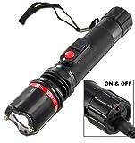Terminator Stun Gun Ultra Powerful Flashlight Stun Gun With Bright LED Flashlight Heavy Duty Rechargeable (Black)