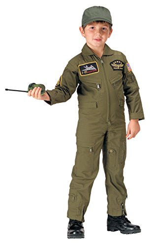 Rothco Kids Aviator Flight Coverall - Olive Drab, L (Daves Olives)