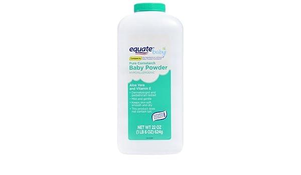 Baby Equate Pure Cornstarch Baby Powder With Aloe And Vitamin E 15oz By Judastice