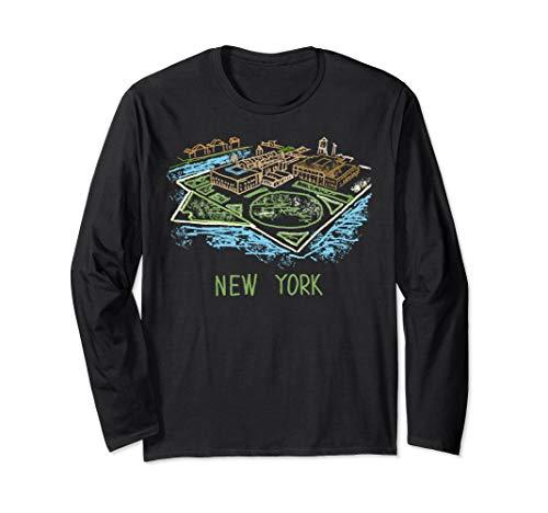 Ellis Island New York Long Sleeve T-Shirt (The Ellis Island Of Black America Was In)