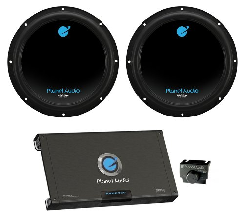 "2) PLANET AUDIO AC10D 10"" 3000W Car Subwoofers Subs+2600W 2"