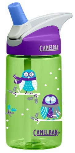 Camelbak eddy Kids .4L BPA Free Drinking Water Bottle w/ Bite Valve & Straw Excellent Winter Holiday Christmas Gift For Children (Winter Owls)