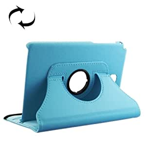 Litchi Texture 360 Degree Rotating Leather Case with Holder for Samsung Galaxy Tab 5 8.0 / T350 (Blue)