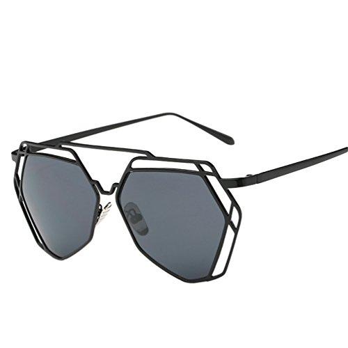 YAANCUN De De Femme De Classique Sunglasses Vue Oeil Chat Gris Soleil Verres Metallique Polarisées Lunette Mode Lunettes YnYBfr