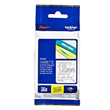 Brother TZe-135 Laminated 12mm Tape Cassette - White on Clear