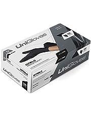 Luva Nitrílica Preta Descartável Sem Pó Caixa com 100 unidades Nitrilo Black Luvas de Procedimento Preto Cartucho com 50 pares (M - MÉDIO)