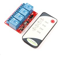 DROK® Wireless Relay Remote Receiver Control Board Self-Lock DC 24V 4-Channel ...