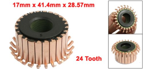 12mm OD 10.3mm High 12 Tooth Metal Shell Mount On Armature Commutator