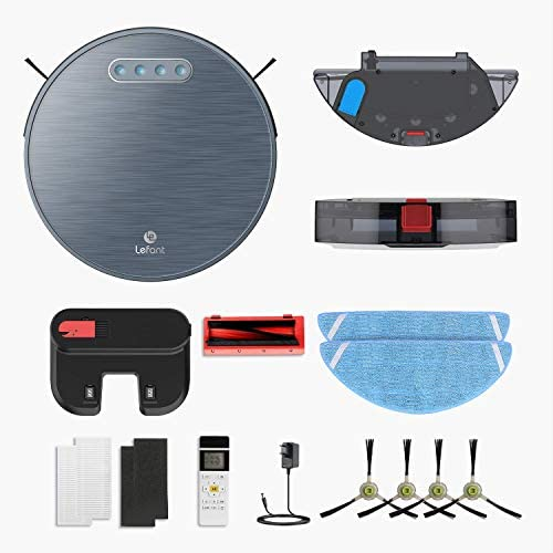 Lefant Robot Vacuum and Mop(Slim),Self-Charging Auto Robotic Vacuum Cleaner,2200Pa Powerful Suction,180min Runtime,Works with Alexa/Wi-Fi/APP,for Pet Hair,Hard Floor,Low Pile Carpet (M571)