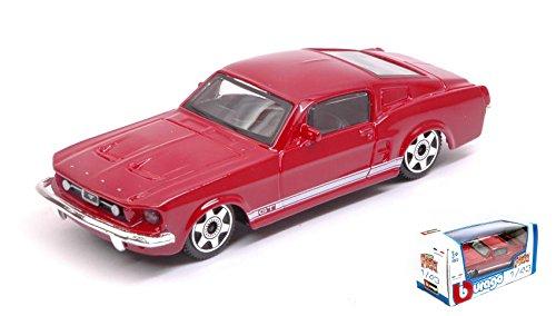 FORD MUSTANG GT 1964 RED 1:43 Burago Modellino Auto Stradali Die Cast