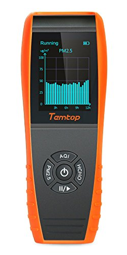 Temtop Air Quality Detector Professional Formaldehyde Monitor Temperature and Humidity Detector with PM2.5/PM10/HCHO/AQI/Particles Recording Curve LKC-1000S+ by Temtop (Image #6)