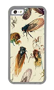 Apple Iphone 5C Case,WENJORS Personalized summer cicadas Soft Case Protective Shell Cell Phone Cover For Apple Iphone 5C - TPU Transparent