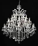 Crystorama 4470-CH-CL-MWP, Maria Theresa Crystal Chandelier Lighting, 26 Light, 650 Watts, Chrome Review