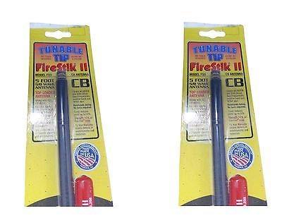 Firestik 2 FS5 Tunable Tip 5 ft CB Ham Antenna Black USA Mad