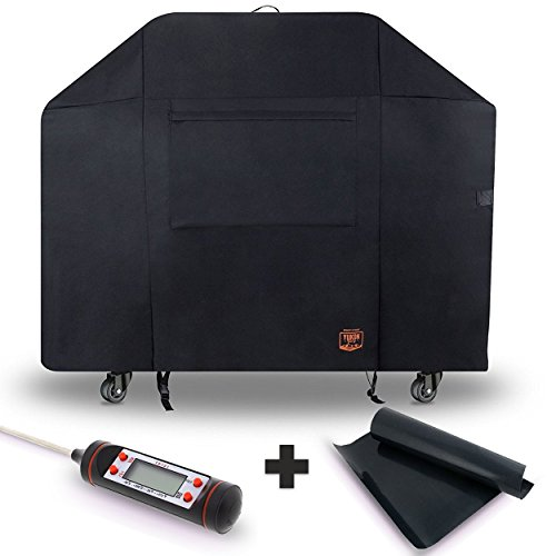 Yukon Glory 7108 Weber Summit Grill Cover - 400 Series Gas Grill - Waterproof & Weatherproof Gas BBQ Equivalent to Weber 7108 Grill Cover BONUS MEAT & POULTRY THERMOMETER + BBQ GRILLING MATT (Thermometer Summit)