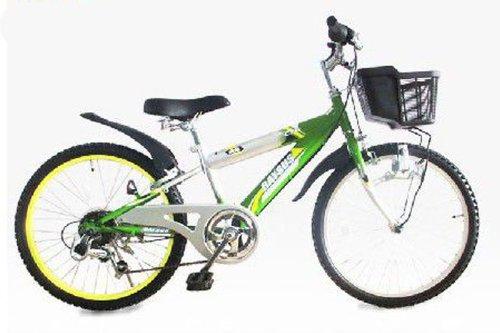 RAYSUS(レイサス) マウンテンバイク 自転車 22インチ RY-226KD キッズバイク シマノ6段ギア ダイナモライト 後輪鍵 100%完成車 B00LJB1E2Cグリーン