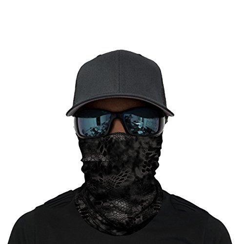 OUYZY Neck Gaiter, Headwear, Face Sun Mask, Magic Scarf, Bandana, Balaclava, Headband for Cycling, Fishing, Hunting, Motorcycling, Running, Skateboarding, Moisture Wicking UV Protection