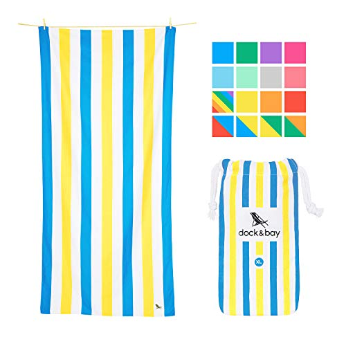 Dock & Bay Towel Beach Acessories for Women - and Men, Sandy Toes, Extra Large (200x90cm, 78x35) - Beach Cabana, Swim, Pool, Yoga, Travelling - Summer Collection
