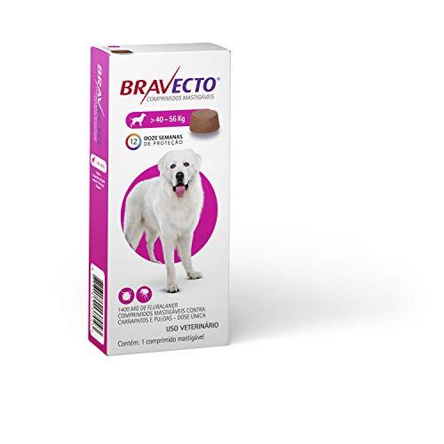 Bravecto Cães 40 até 56kg, 1400mg Bravecto para Cães, 40 até 56kg