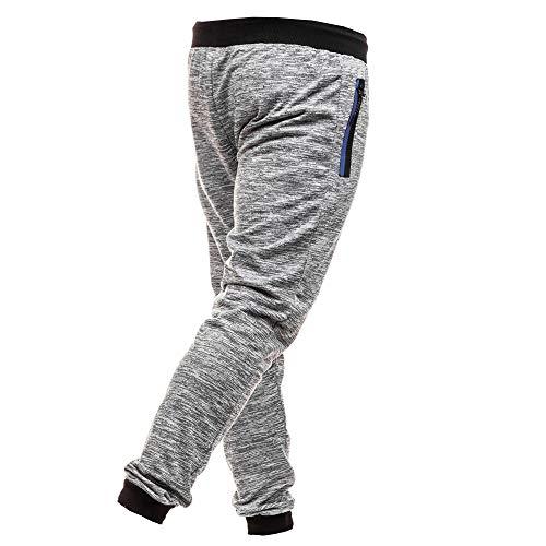 Merical Uomo Pantaloni Della Grigio Autunno Joggers Tuta Coulisse Casual Patchwork arqr4vd