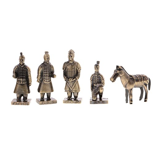 - Fenteer 5pcs China Ancient Qinyong Terra Cotta Warriors Figurine Action Figures Collectibles Desktop Ornament Playset Birthday Gift