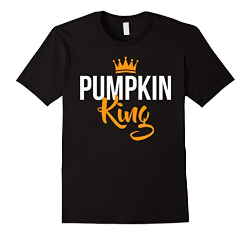 The Pumpkin King Costume - Mens Pumpkin KIng Tshirt for Halloween Small Black