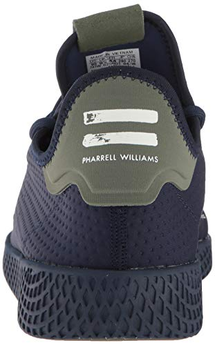 0b9d173591c02 adidas Originals Men's Pharrell Williams Tennis HU Running Shoe, Collegiate  Navy/Off White, 11 M US
