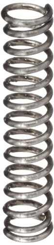 Compression Spring, Stainless Steel, Metric, 1.4 mm OD, 0.2 mm Wire Size, 3.71 mm Compressed Length, 6.5 mm Free Length, 1.91 N Load Capacity, 0.67 N/mm Spring Rate (Pack of 10) ()