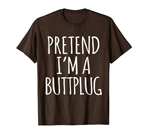 Funny Lazy Halloween Costume Shirt - Buttplug Poop