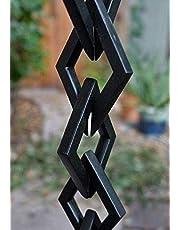 Kam HOME Diamantschakels Regenketting met installatiekit (9.5, zwart)
