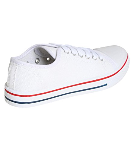 PILOT® Women's Canvas Lace Up Trainers in White White 9EdTDqhC