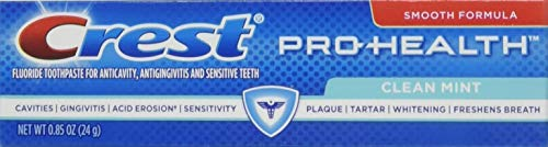 Crest 037000995609 Pro-Health Clean Mint Toothpaste, Smooth Formula 0.85 oz, Travel Size, (36 Pack) by Crest