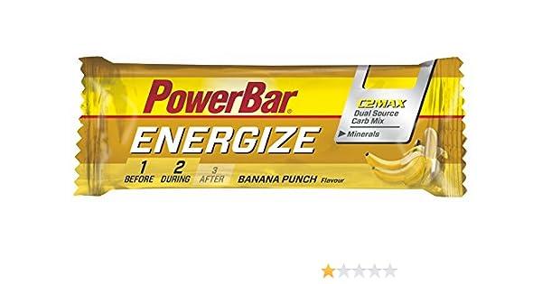 Barrita Energética Energize PowerBar 12 x 55g Plátano: Amazon.es: Alimentación y bebidas