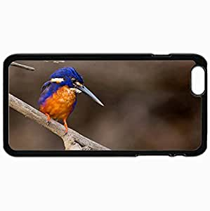 Customized Cellphone Case Back Cover For iPhone 6 Plus, Protective Hardshell Case Personalized Bird Nature Background Black