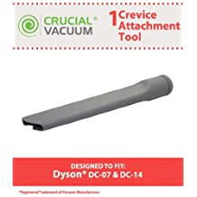 1 Dyson DC07 DC14 Replacement Crevice Tool Attachment Designed To Fit Dyson DC07, DC14 Upright Vacuum Cleaners, Compare to Part # 904083-07, Designed & Engineered By Crucial Vacuum