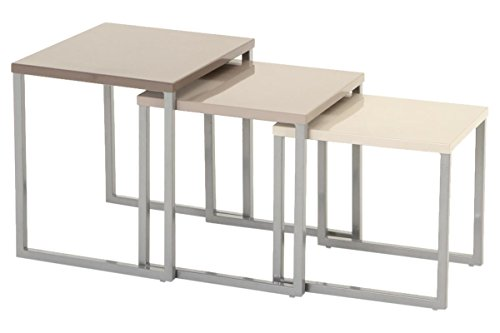 Set Of 3 Nesting Tables Indoor Or Outdoor Use Dark Mid