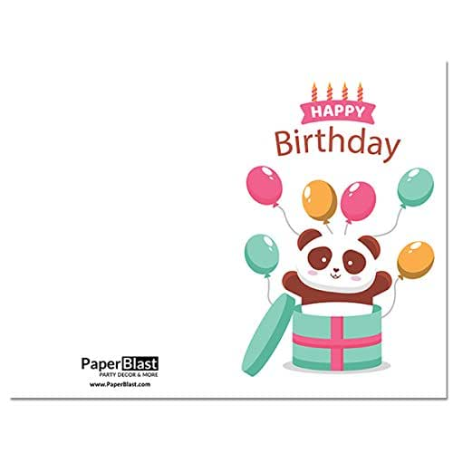 Amazon.com: Panda Surprise Birthday Card