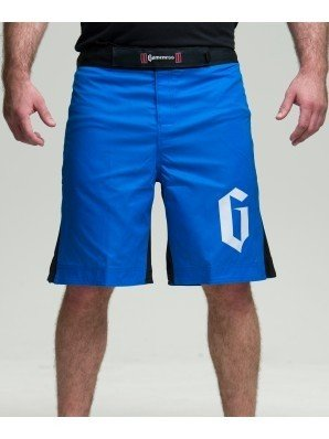 Gameness Strike Shorts for NoGi Jiu Jitsu, MMA, and Grappling (40, Blue/Black)