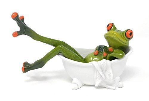 - Novelty Frog in Clawfooted Bathtub Figurine, 6W